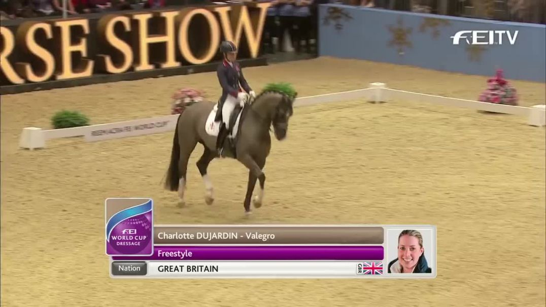 Charlotte Dujardin -  World Record Breaking Freestyle test at London Olympia