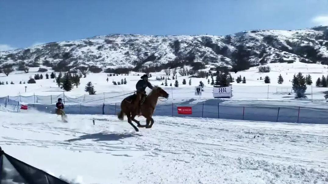 UTAH SKIJORING- Epic Horse & Ski Race